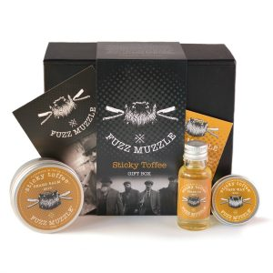 Sticky Toffee Beard care set from Fuzz Muzzle