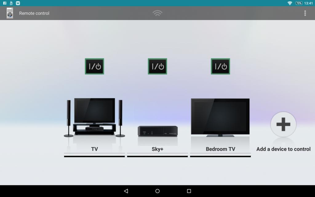 Sony Xperia Z tablet remote control