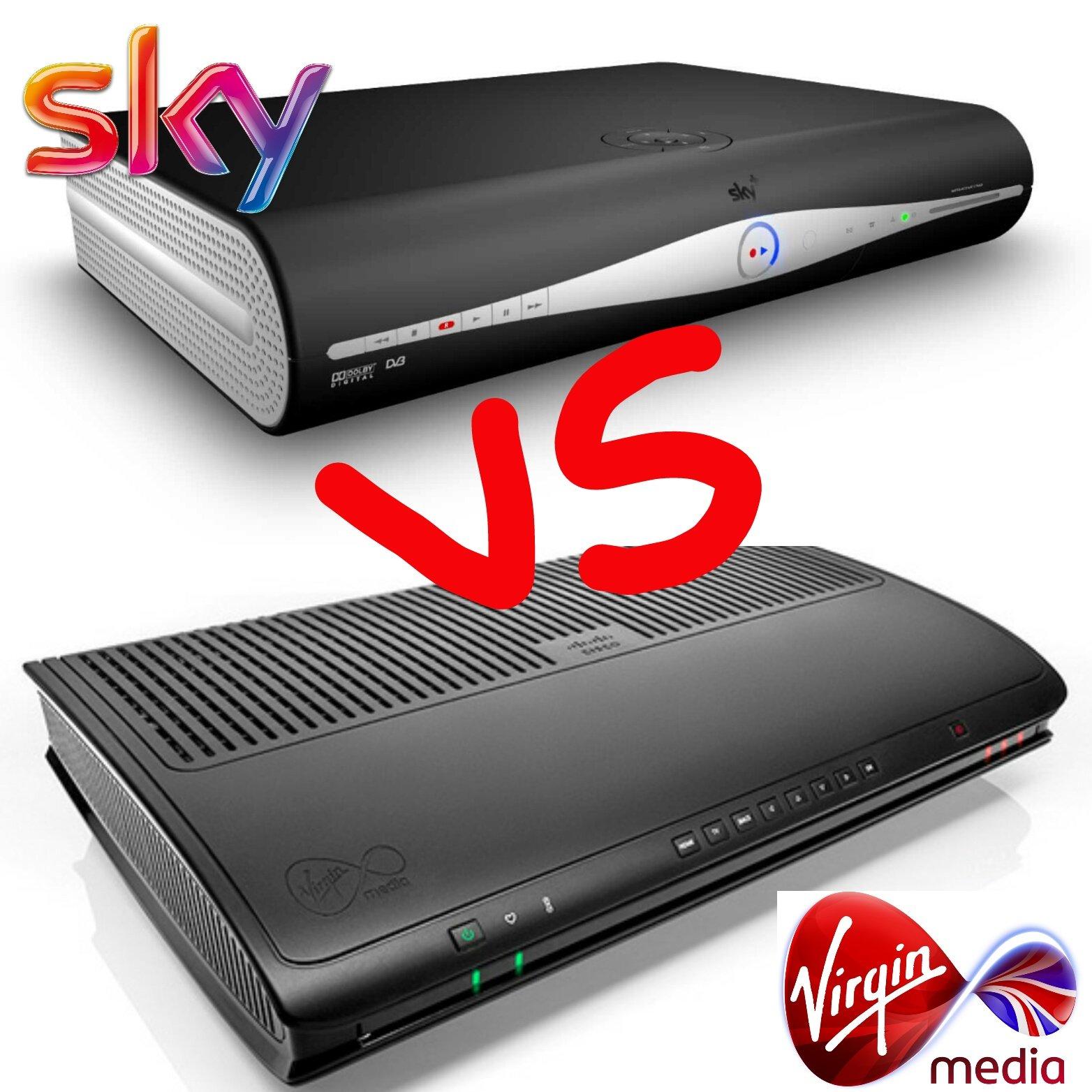 Sky Versus Virgin Media TV
