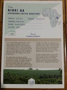 Atkinsons Coffee Roasters Rioka AA
