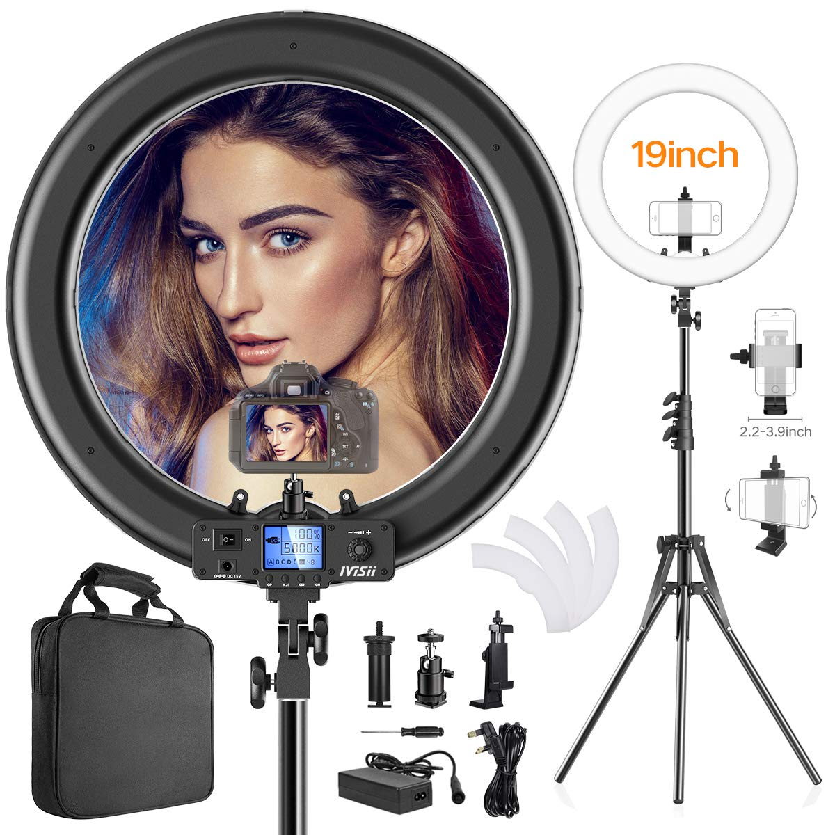 Review of the 19″ IVISII LED Ring Light from CAIYING-EU