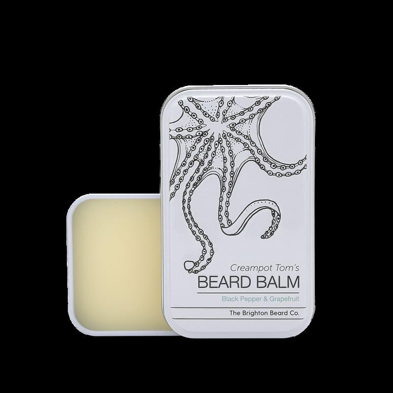Review of The Brighton Beard Co Creampot Tom's Black Pepper & Grapefruit Beard Balm