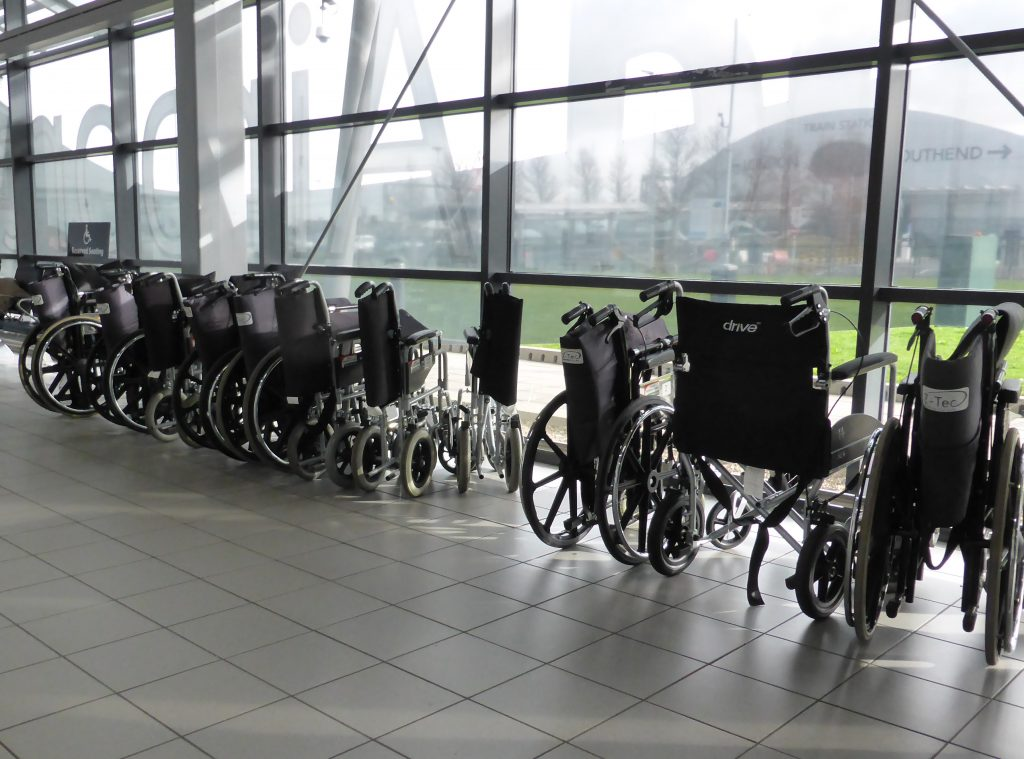 Wheelchairs at London Southend Airport