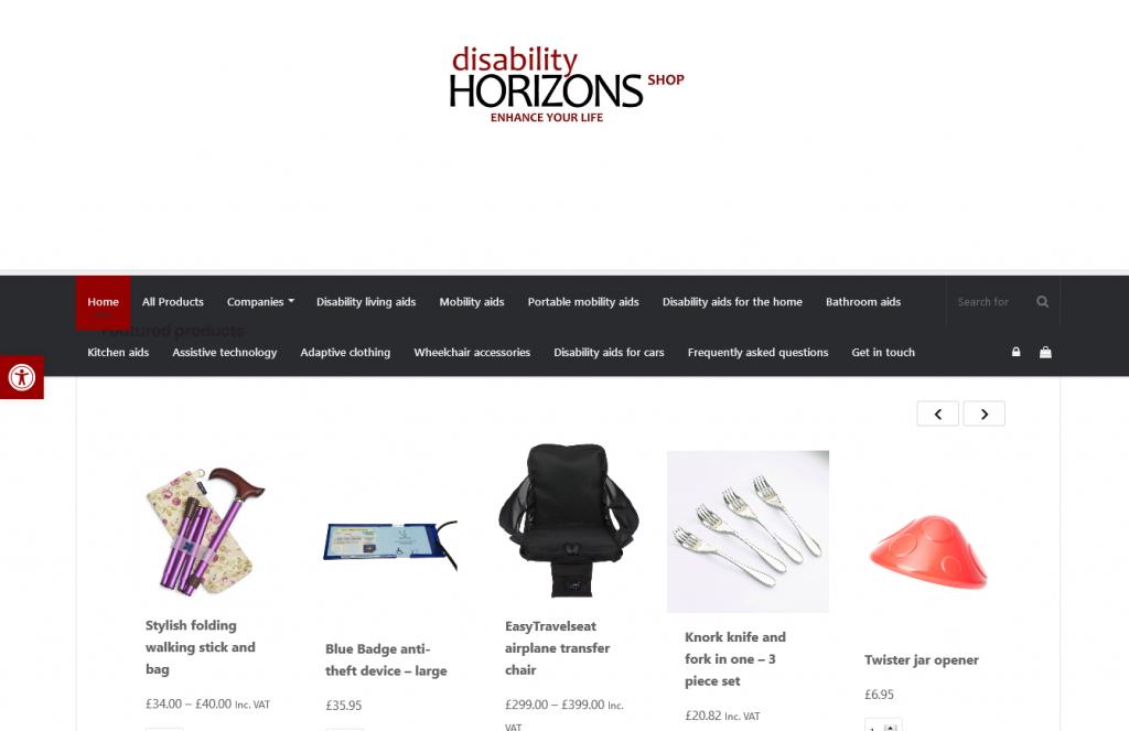 Disability Horizons online shop
