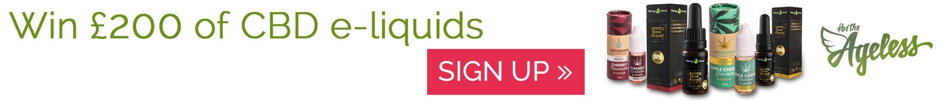 Win £200 of CBD e-liquids from For The Ageless