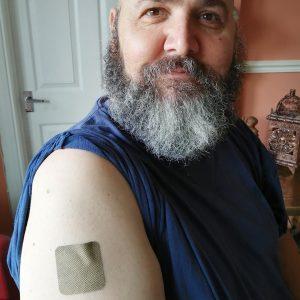 CBD patch on my arm