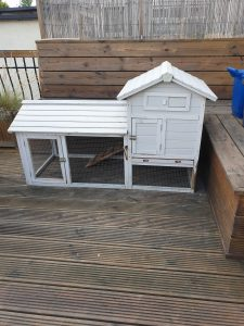 We are getting chickens! Our coop/hutch that needs some work
