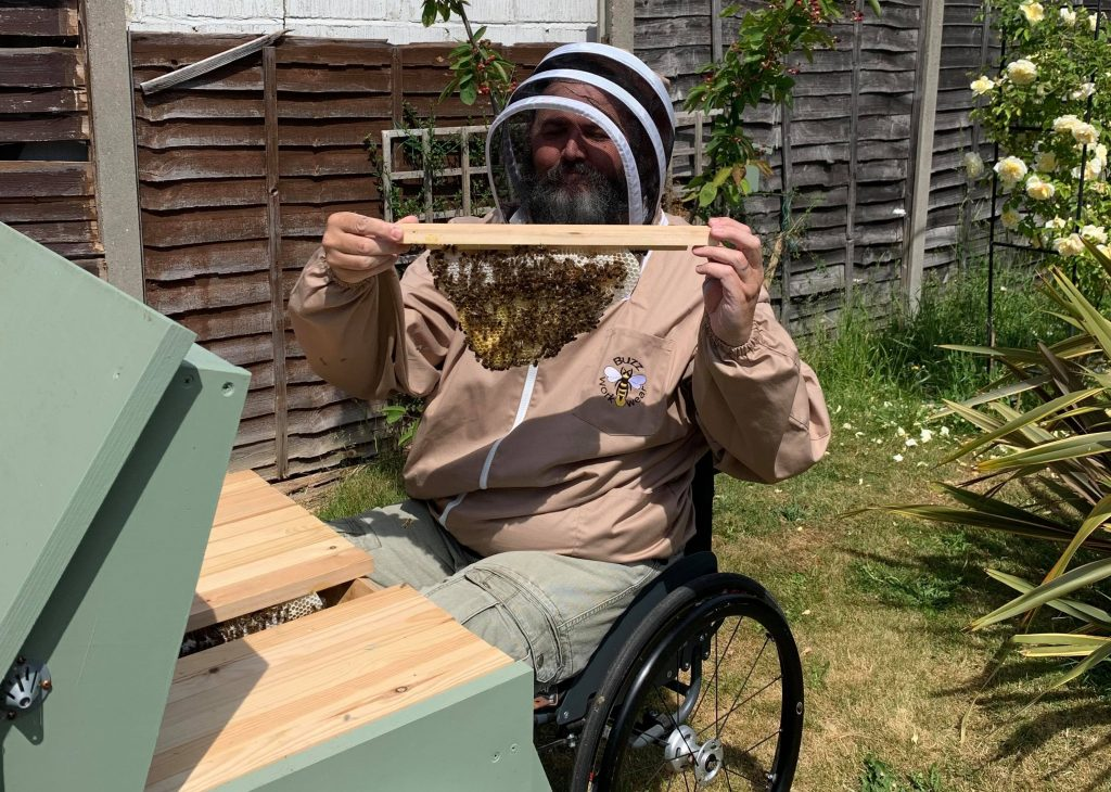 Disabled beekeeper