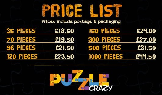 Jigsaw crazy price list