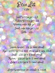 The Ubiquitous Sweet price list
