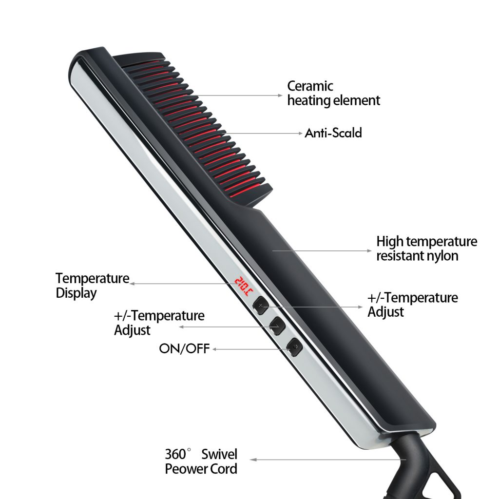 WT-058 Beard Straightener from GuangZhou WellTop Electronic Co